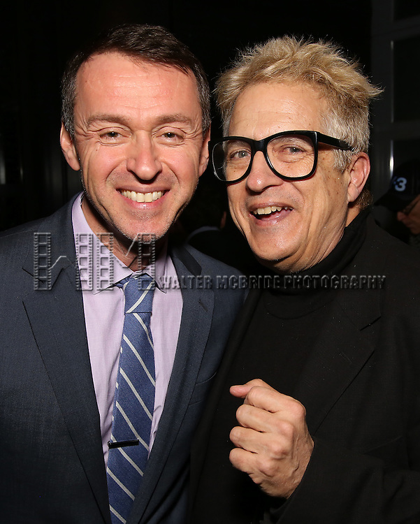 Andrew Lippa and Ken Fallin attend the DGF Reception for Andrew Lippa & Friends at Landmarc on February 1, 2017 in New York City.