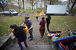 Volunteers taking delivery of donations for newly-arrived refugees in Berlin. The donations were collected and sorted by Kreuzberg Hilft, a volunteer-run group of citizens brought together to help alleviate the refugee crisis in the city. Around 60,000 refugees arrived in the city in the first 10 months of 2015, out of an overall total of around 850,000 in the whole of Germany.