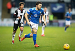 St Mirren v St Johnstone&hellip;26.12.18&hellip;   St Mirren Park    SPFL<br />Tony Watt gets away from Ethan Erhahon<br />Picture by Graeme Hart. <br />Copyright Perthshire Picture Agency<br />Tel: 01738 623350  Mobile: 07990 594431