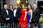 Dave Devery, Nicholi Moroney, David Moroney, Lisa Devery, Michelle O'Beirne and Gary Fox at the Black Tie ball at the Rose Hotel, Tralee on New Years Eve.
