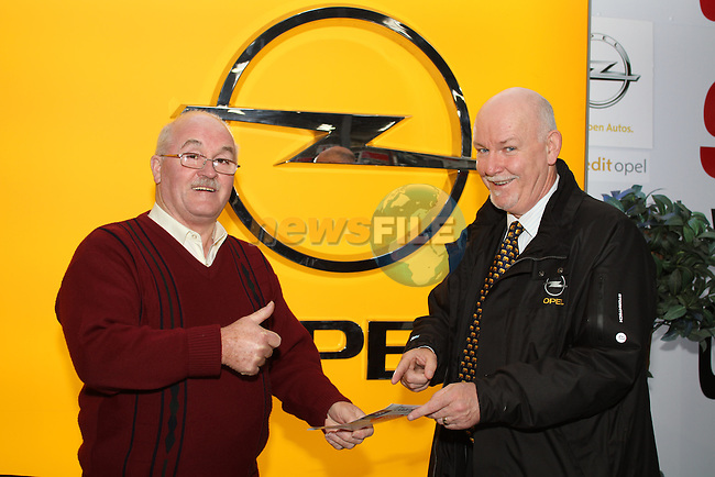 Dave Byrne of Boyne Valley Motor Group with Tony Leech at the Drogheda Motor Show...(Photo credit should read Jenny Matthews www.newsfile.ie)....This Picture has been sent you under the condtions enclosed by:.Newsfile Ltd..The Studio,.Millmount Abbey,.Drogheda,.Co Meath..Ireland..Tel: +353(0)41-9871240.Fax: +353(0)41-9871260.GSM: +353(0)86-2500958.email: pictures@newsfile.ie.www.newsfile.ie.