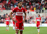 Rudy Gestede of Middlesbrough during the Sky Bet Championship match at the Riverside Stadium, Middlesbrough. Picture date: August 26th 2017. Picture credit should read: Jamie Tyerman/Sportimage
