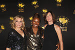 Deborah Koenigsberger - Founder & CEO of Hearts of Gold poses with actress Amy Carlson at the annual All That Glitters Gala - 24 years of support to New York City's homeless mothers and their cildren - (VIP Reception - Silent Auction) was held on November 7, 2018 at Noir et Blanc and the 40/40 Club in New York City, New York.  (Photo by Sue Coflin/Max Photo)