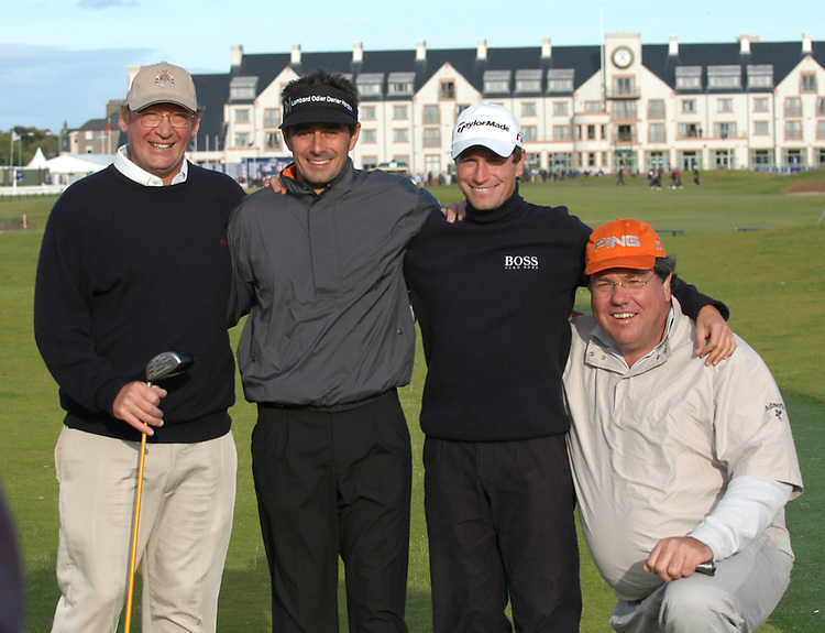 DUNHILL LINKS CHAMPIONSHIP 2005..ST.ANDREWS, SCOTLAND..IAN WEBB, JEAN VAN DER VELDE, STEVE WEBSTER AND SCHALK BURGER PLAYING AT CARNOUSTIE..29-9-05 PIC BY IAN MCILGORM