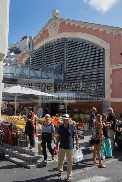 France, Aquitaine, Pyrénées-Atlantiques, Pays Basque, Biarritz:  Les Halles de Biarritz  //  France, Pyrenees Atlantiques, Basque Country, Biarritz: Biarritz Market-house