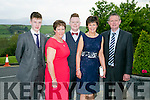 Enjoying the Kerry Badminton Annual Social at the Ballyroe Heights Hotel on Saturday were Micheal Collins, Theresa Collins, Liam Corridan, Helen Corridan and Michael Corridan from Moyvane Club
