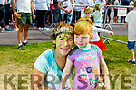 Marie and Laura Jane Nyhan at the colour run in Killarney on Sunday.