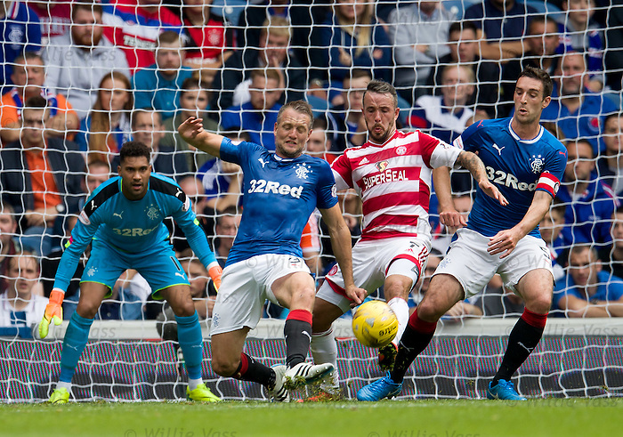 Clint Hill and Lee Wallace with Dougie Imrie