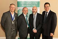 Pictured left to right are NCBC President Mark Deakin with guest speaker Professor Edward Peck of the Nottingham Trent University, Luke Appleby and Dennis Phillips both of sponsors Buckles