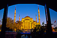 View from Room 120 of the Sultanahmet Palace Hotel of the Blue Mosque, Istanbul, Turkey