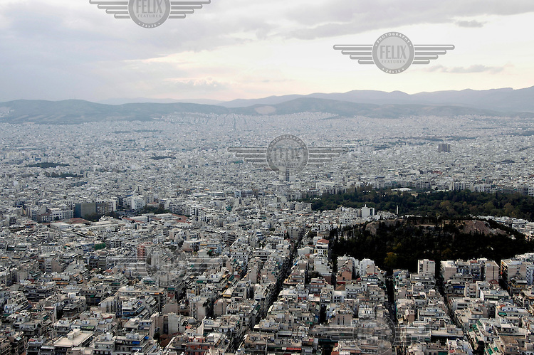 View of Athens from Lycabettous Hill.