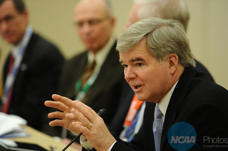 11 JAN 2012: The Division III President's Council at the 2012 NCAA Convention held at the JW Marriott and Indianapolis Convention Center in Indianapolis, IN.  Stephen Nowland/NCAA Photos.Pictured: Mark Emmert