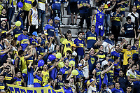 IBAGUE - COLOMBIA, 24-04-2019: Hinchas del Boca animan a su equipo durante partido por la ronda 4, grupo G, de la Copa CONMEBOL Libertadores 2019 entre Deportes Tolima de Colombia y Boca Juniors de Argentina jugado en el estadio Manuel Murillo Toro de la ciudad de Ibagué. / Fans of Boca cheer for their team during as part of round 4, group G, of Copa CONMEBOL Libertadores 2019 between Deportes Tolima of Colombia and Boca Juniors of Argentina at Manuel Murillo Toro stadium in Ibague city. Photo: VizzorImage / Alejandro Rosales / Cont