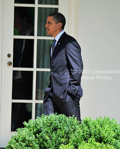 United States President Barack Obama returns to the White House in Washington, D.C. on Thursday, June 3, 2010.  He was returning from a visit to the Sidwell Friends School in Bethesda, Maryland for one of his daughter Sasha's school events..Credit: Ron Sachs - Pool via CNP