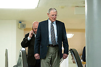 United States Senator Jim Inhofe (Republican of Oklahoma) walks through the Senate Subway during a cloture vote on a Coronavirus Stimulus Package at the United States Capitol in Washington D.C., U.S., on Monday, March 23, 2020.  Credit: Stefani Reynolds / CNP/AdMedia