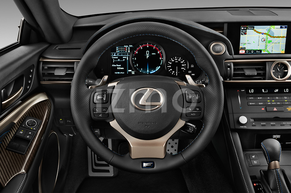 Car pictures of steering wheel view of a 2018 Lexus RC F 3 Door Coupe