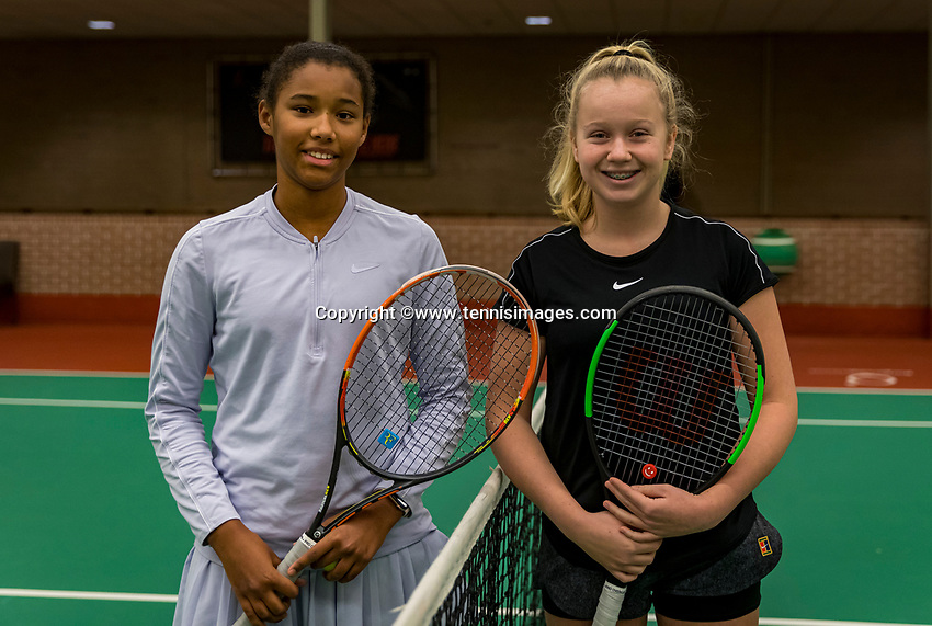 Wateringen, The Netherlands, December 1,  2019, De Rhijenhof , NOJK 12 and16 years, final girls 12 years: Silver Bijlsma (NED) (L) and Britt du Pree (NED)<br /> Photo: www.tennisimages.com/Henk Koster
