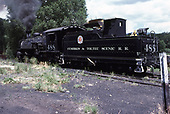 3/4 rear fireman's-side view of C&amp;TS #488 at Chama.<br /> C&amp;TS  Chama, NM