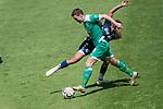 11.01.2019, Bidvest Stadion, Braampark, Johannesburg, RSA, FSP, SV Werder Bremen (GER) vs Bidvest Wits FC (ZA)<br /> <br /> im Bild / picture shows <br /> Niklas Moisander (Werder Bremen #18)<br /> Moegammad Haashim Domingo (Bidvest Wits FC #21)<br /> Foto © nordphoto / Kokenge