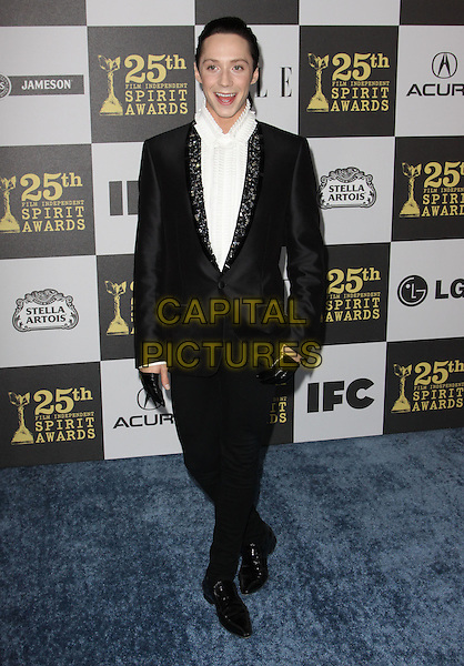 JOHNNY WEIR .25th Annual Film Independent Spirit Awards held At The Nokia LA Live, Los Angeles, California, USA,.March 5th, 2010 ..arrivals Indie Spirit full length black suit gloves white shirt beaded jewelled embellished lapel .CAP/ADM/KB.©Kevan Brooks/Admedia/Capital Pictures