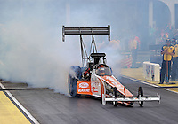 May 10, 2013; Commerce, GA, USA: NHRA top fuel dragster driver Clay Millican during qualifying for the Southern Nationals at Atlanta Dragway. Mandatory Credit: Mark J. Rebilas-
