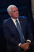 United States Vice President Mike Pence attends the one year celebration of the Pledge to America's Workers at the White House in Washington D.C., U.S. on July 25, 2019.<br /> <br /> Credit: Stefani Reynolds / CNP