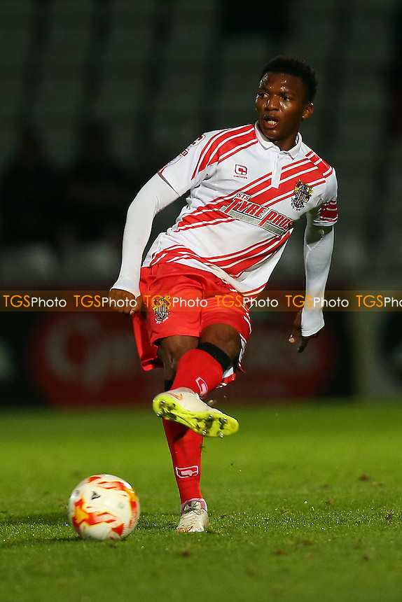 Kgosi Ntlhe of Stevenage during Stevenage vs Brighton & Hove Albion Under-23, Checkatrade Trophy Football at the Lamex Stadium on 4th October 2016