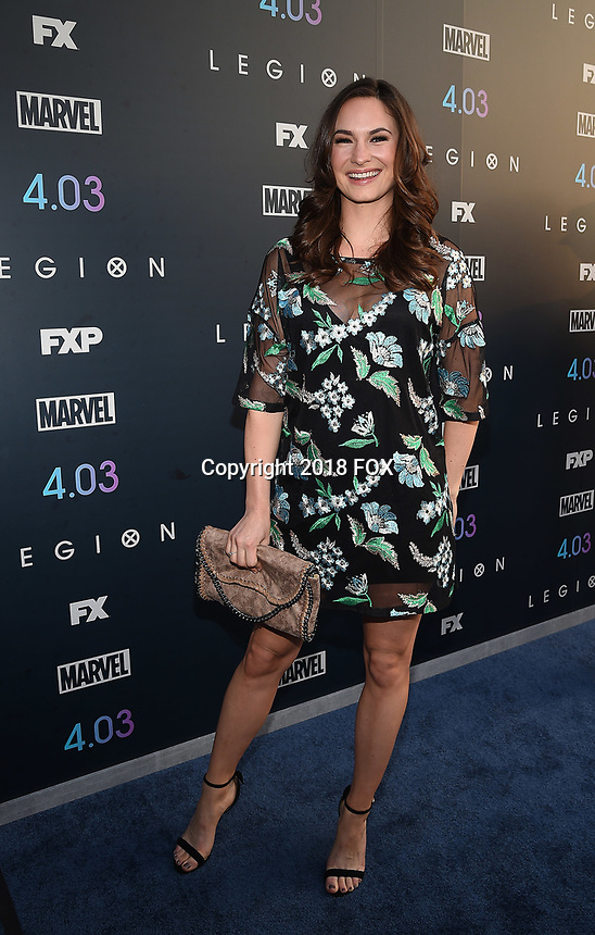 """LOS ANGELES, CA - APRIL 2: Sarah Bellini attends the season two premiere of FX's """"Legion"""" at the DGA Theater on April 2, 2018 in Los Angeles, California. (Photo by Frank Micelotta/FX/PictureGroup)"""