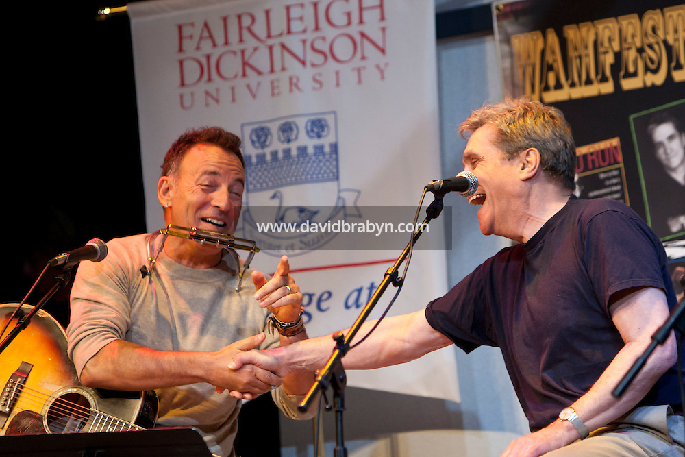 Rocker Bruce Springsteen (L) and former US Poet Laureate Robert Pinsky talk and perform at the 2010 literary and music festival WAMFest at Fairleigh Dickinson University, Madison, NJ, USA, 6 May 2010.