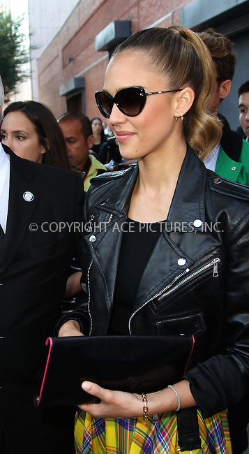 WWW.ACEPIXS.COM....September 13 2012, New York City....Jessica Alba attends a fashion show at Mercedes Benz Fashion Week on September 13 2012 in New York City......By Line: Zelig Shaul/ACE Pictures......ACE Pictures, Inc...tel: 646 769 0430..Email: info@acepixs.com..www.acepixs.com