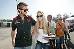 Motorsports / Formula 1: World Championship 2007, GP of Italy,   7 Jenson Button (GBR, Honda Racing F1 Team), and girlfriend, freundin