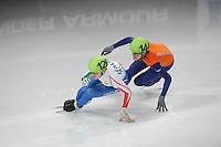 SCHAATSEN: DORDRECHT: Sportboulevard, Korean Air ISU World Cup Finale, 12-02-2012, Arianna Fontana ITA (126), Jorien ter Mors NED (144), ©foto: Martin de Jong