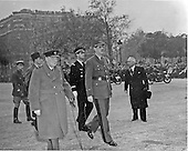 Paris, France - November 11, 1944 -- Prime Minister Winston Churchill of the United Kingdom and General Charles De Gaulle of France walk down the Champs Elysee, Paris, France on November 11, 1944 during the former's visit on November 11, 1944..Credit: U.S. Army via CNP