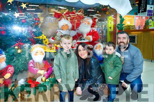Santa Arriving On Saturday At Manor West Retail Centre. Pictured Ewan Costello, Claire Coakley Costello, Rian Costello and Aidan Costello from Milltown