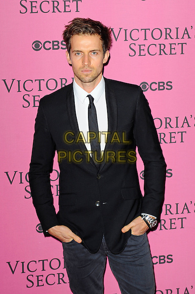 LONDON, ENGLAND - DECEMBER 2:  Andrew Cooper attends the pink carpet for Victoria's Secret Fashion Show 2014, Earls Court on December 2, 2014 in London, England.<br /> CAP/MAR<br /> &copy; Martin Harris/Capital Pictures