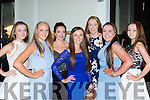 Workmens RC rowers all dresseed up for the Regatta Queen dance in the Killarney Oaks Hotel on Tuesday night l-r: Ciara Broen, Ciara Moynihan, Siobhain burns, Leona Browne, Annie O'Donoghue, Aisling Doyle and Dayna Courtney