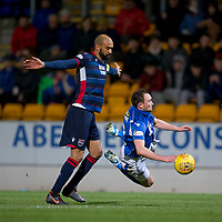 29th December 2019; McDairmid Park, Perth, Perth and Kinross, Scotland; Scottish Premiership Football, St Johnstone versus Ross County; Chris Kane of St Johnstone is bought down by Liam Fontaine of Ross County  - Editorial Use