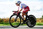 Aigul Gareeva of Russia in action during the Women Junior Individual Time Trial of the UCI World Championships 2019 running 13.7km from Harrogate to Harrogate, England. 23rd September 2019.<br /> Picture: Alex Broadway/SWPix.com | Cyclefile<br /> <br /> All photos usage must carry mandatory copyright credit (© Cyclefile | Alex Broadway/SWPix.com)