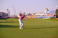 Rory McIlroy (NIR) on the 18th fairway during the final round of the DP World Tour Championship, Jumeirah Golf Estates, Dubai, United Arab Emirates. 24/11/2019<br /> Picture: Golffile | Fran Caffrey<br /> <br /> <br /> All photo usage must carry mandatory copyright credit (© Golffile | Fran Caffrey)