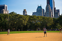 Baseball game in Central park, New York