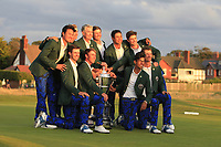 The USA Team, winners of the Walker Cup, Royal Liverpool Golf CLub, Hoylake, Cheshire, England. 08/09/2019.<br /> Picture Thos Caffrey / Golffile.ie<br /> <br /> All photo usage must carry mandatory copyright credit (© Golffile | Thos Caffrey)