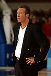 Basketball, BBL 2003/2004 , 1.Bundesliga Herren, Wuerzburg (Germany) X-Rays TSK Wuerzburg - GHP Bamberg (62:84) Trainer, Headcoach Aaron McCarthy (Wuerzburg) angespannt, unzufrieden