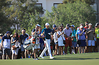 Justin Rose (ENG) on the 12th fairway on the 13th tee during the 3rd round of the DP World Tour Championship, Jumeirah Golf Estates, Dubai, United Arab Emirates. 23/11/2019<br /> Picture: Golffile | Phil Inglis<br /> <br /> <br /> All photo usage must carry mandatory copyright credit (© Golffile | Phil Inglis)