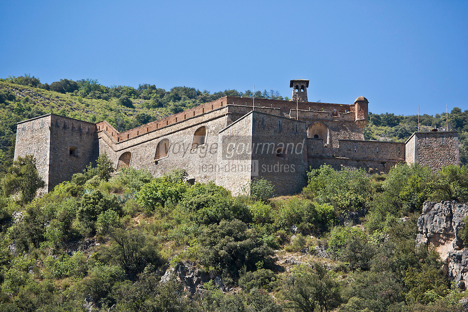 Europe/France/Languedoc-Roussillon/66/Pyrénées-Orientales/Conflent/Villefranche-de-Conflent: Le Fort Libéria construit par Vauban