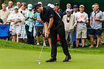 CROMWELL, CT. 20 June 2019-062019 - PGA Tour player Patrick Cantlay taps in an easy putt for birdie to go to 6 under, on the seventh hole, during the first round of the Travelers Championship at TPC River Highlands in Cromwell on Thursday. Bill Shettle Republican-American