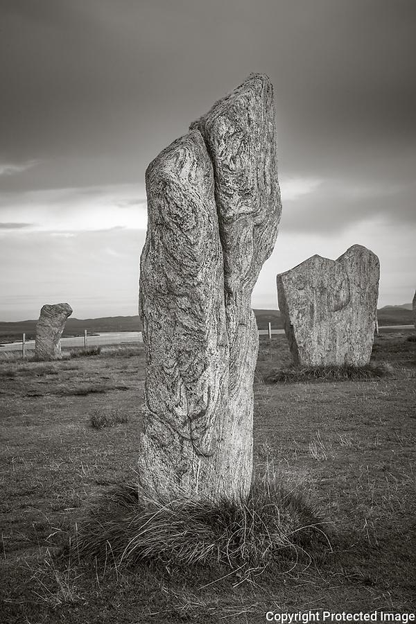 Isle of Lewis, Scotland:<br /> Standing stones at Callanish