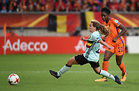 20170724 - TILBURG , NETHERLANDS : Belgian Davina Philtjens(L)  and Dutch Liza van der Most (R) pictured during the female soccer game between Belgium and The Netherlands  , the thirth game in group A at the Women's Euro 2017 , European Championship in The Netherlands 2017 , Monday 24 th June 2017 at Stadion Koning Willem II  in Tilburg , The Netherlands PHOTO SPORTPIX.BE | DIRK VUYLSTEKE