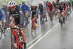 The peloton during a very wet and cold Stage 11 of the 2017 La Vuelta, running 187.5km from Lorca to Observatorio Astron&oacute;mico de Calar Alto, Spain. 30th August 2017.<br /> Picture: Unipublic/&copy;photogomezsport | Cyclefile<br /> <br /> <br /> All photos usage must carry mandatory copyright credit (&copy; Cyclefile | Unipublic/&copy;photogomezsport)