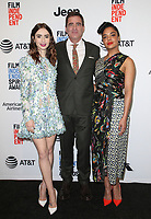 WEST HOLLYWOOD, CA - NOVEMBER 21: Lily Collins, Josh Welsh and Tessa Thompson at the Film Independent Spirit Awards Press Conference at The Jeremy Hotel in West Hollywood, California on November 21, 2017. Credit: Faye Sadou/MediaPunch