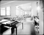 Frederick Stone negative. Interior of New Citizens & Mfrs. Bank building 1925.